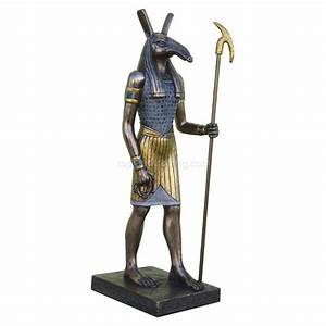 """Set God of Storms Egyptian 8 75"""" Statue The Luciferian"""