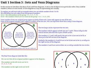 Sets And Venn Diagrams Graphic Organizer For 5th