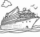 Ship Cruise Coloring Enormous Sunny Netart Boat Island sketch template