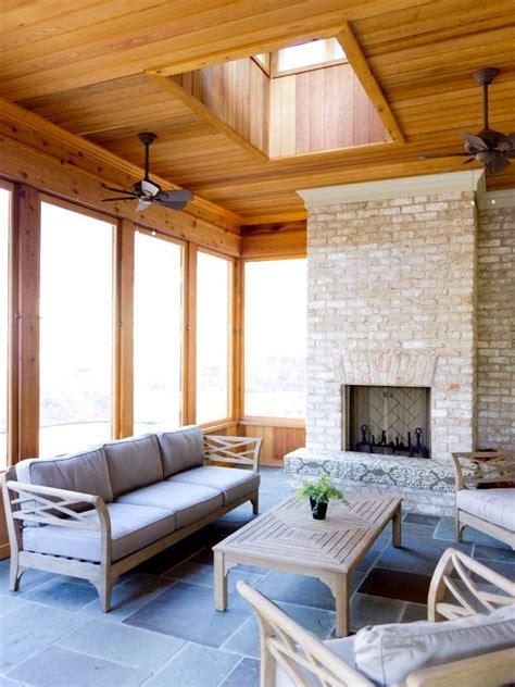 seasons room  removable panels cedar  blue stone flooring  seasons room