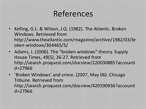 Broken windows theory essay racism essay conclusion broken window ...