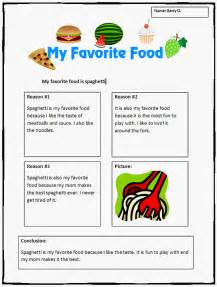 common opinion writing template my favorite food k 5 computer lab