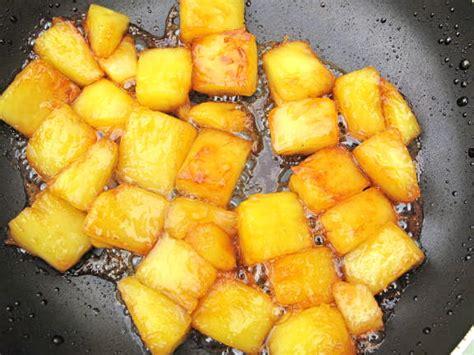 dessert avec de l ananas frais ananas au caramel et pourquoi pas flamb 233 h 233 l 232 ne