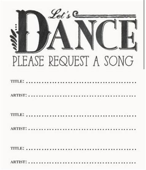 song request cards dream wedding ideas pinterest