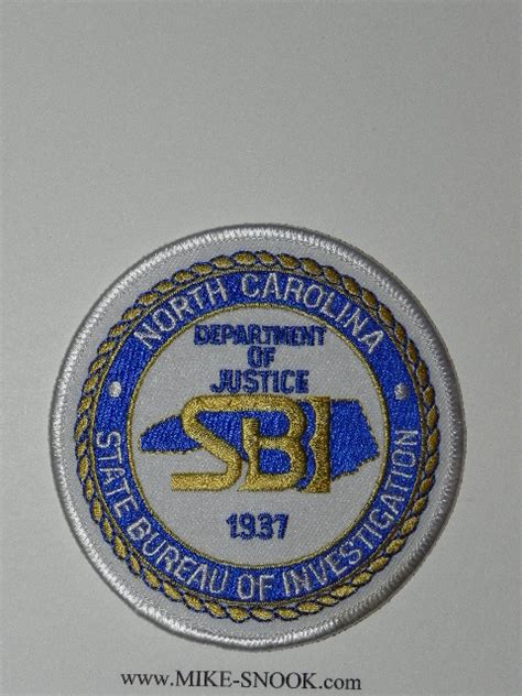 state bureau of investigations mike snook 39 s patch collection state of carolina