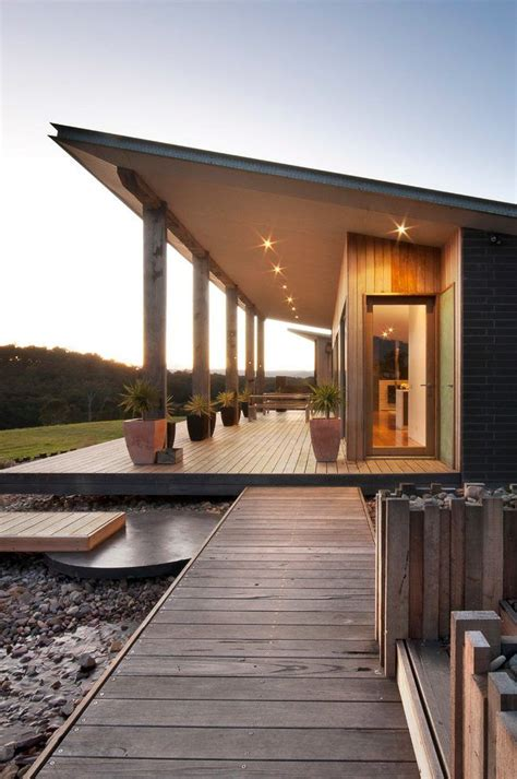 single pitch roof exterior farmhouse  shading wooden