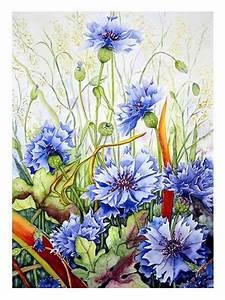 Blumen Bilder Gemalt : kornblumen von maria inhoven pflanzen blumen natur erde malerei ~ Orissabook.com Haus und Dekorationen