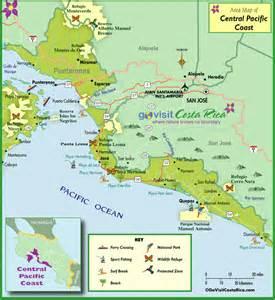 Central Pacific Coast Costa Rica Map