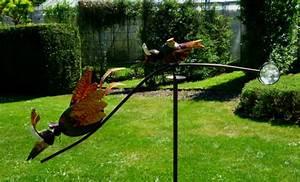 Windspiel Garten Metall : windspiel wippe gartenstecker kleine wilde v gel garten ~ Lizthompson.info Haus und Dekorationen