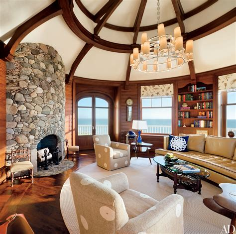 homes  rustic stone fireplaces