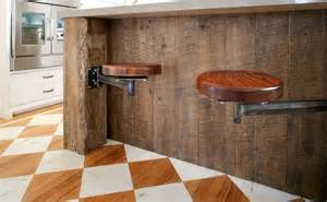 Kitchen Islands That Seat 6 Swing Arm Stools Instead Of Bar Stools No Need To Them Up Before Sweeping Or Mopping