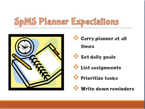 student planners springfield middle school parent university