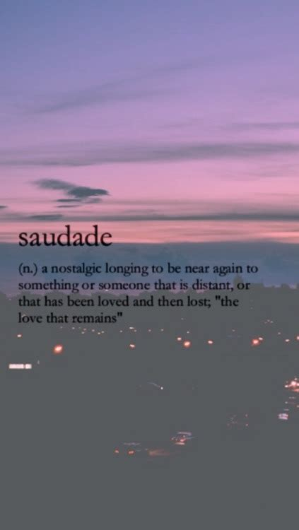 saudade definition tumblr
