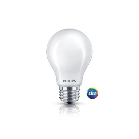 philips 60w equivalent soft white frosted classic glass