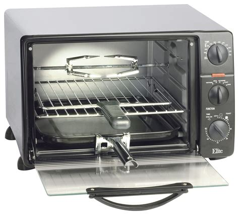 Elite Cuisine 4 Slice Toaster Oven - elite cuisine 0 8 cu ft 6 slice toaster oven broiler