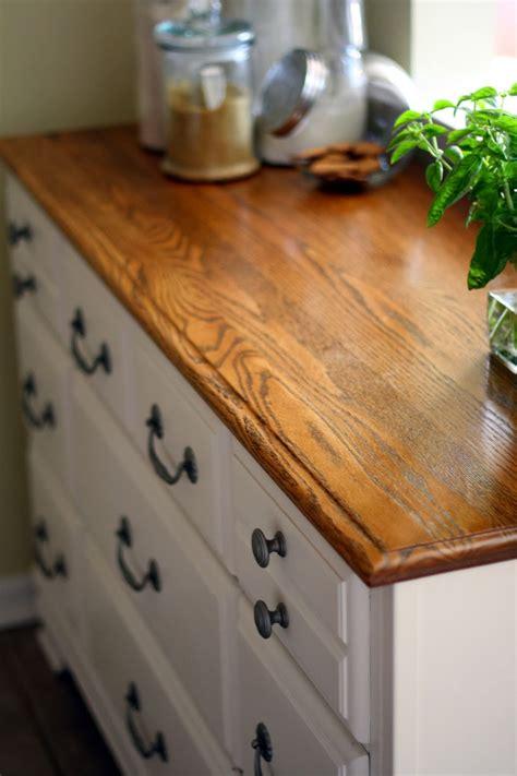 semi frugal life diy dresser turned kitchen cabinet
