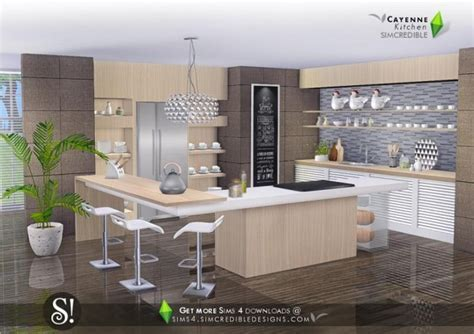 SIMcredible Designs: Cayenne kitchen ? Sims 4 Downloads
