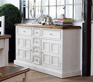 Sideboard Massiv Weiß : sideboard anrichte shabby vintage look kiefer massiv wei honig ~ Indierocktalk.com Haus und Dekorationen
