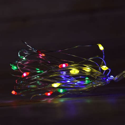 20 rgb multi color changing led wire waterproof
