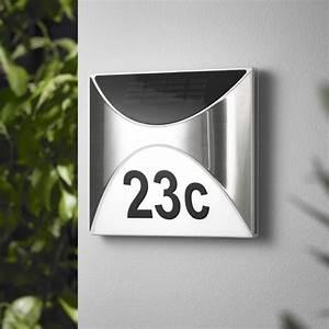 Hausnummer Beleuchtet Led : led solar hausnummer sh04 leuchtenservice shop ~ Frokenaadalensverden.com Haus und Dekorationen