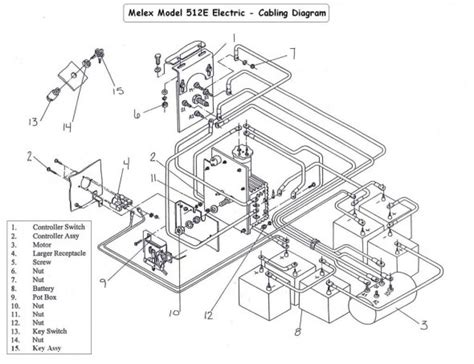 Wiring Diagram For Golf Cart Batteries
