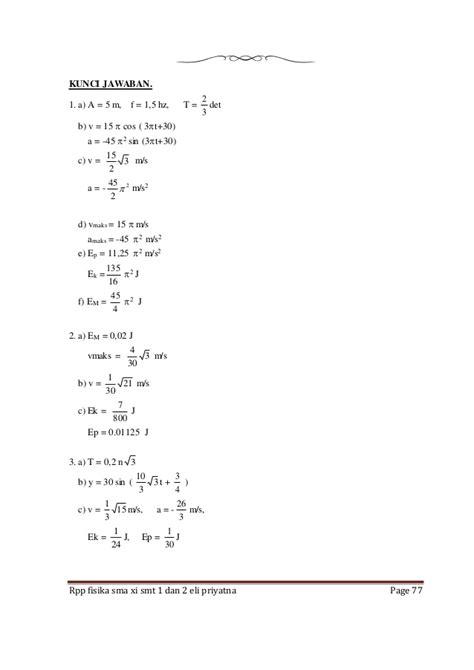 Demikian pembahasan mengenai pelatihan soal ipa kelas 10 sma/smk/ma. rpp fisika sma kelas xi sman 1 cikembar eli priyatna