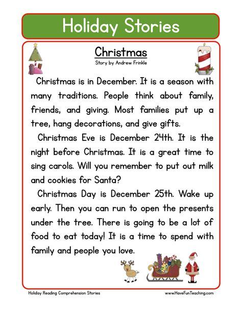christmas reading comprehension worksheets reading alistairtheoptimist free worksheet for kids