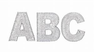 silver sequin letters With large sequin letters