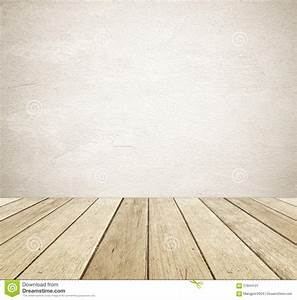 Brown Grunge Cement Wall And Perspective Vintage Wood