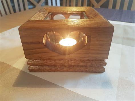 Holz Teelicht Herzform Dank OberfrÄse Bauanleitung Zum