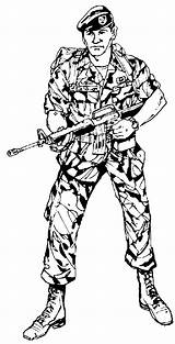 Army Coloring Pages Military Soldiers Coloringpages1001 Ranger sketch template