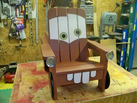 build  diy adirondack chair  kids   tow mater