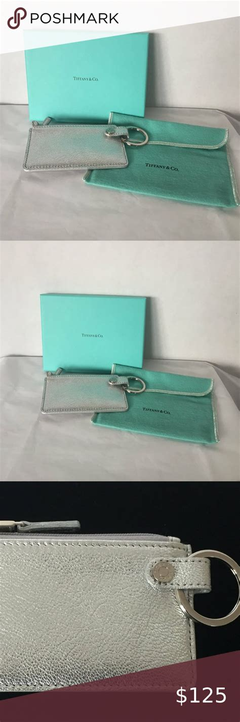 Poshmark makes shopping fun, affordable & easy! Tiffany & Co Card and Key Holder Silver and Blue in 2020 | Leather card case, Tiffany & co., Key ...