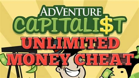 adventure capitalist cheat unlimited money youtube
