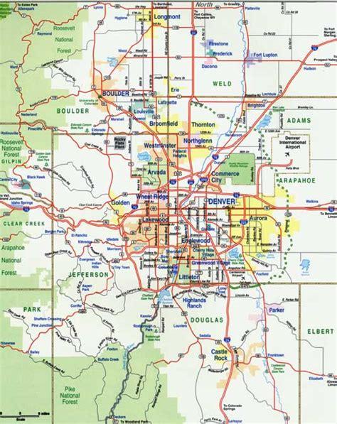 denver metro map travelquazcom