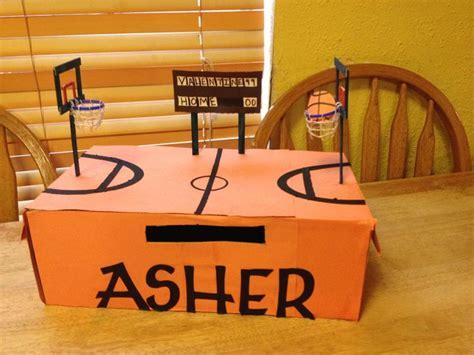 basketball valentine box   popsicle sticks