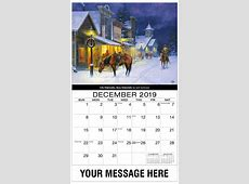 Old West Art Promo Calendar 65¢ Promotional Wall