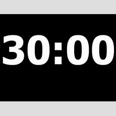 30 Minute Countdown Timer Youtube