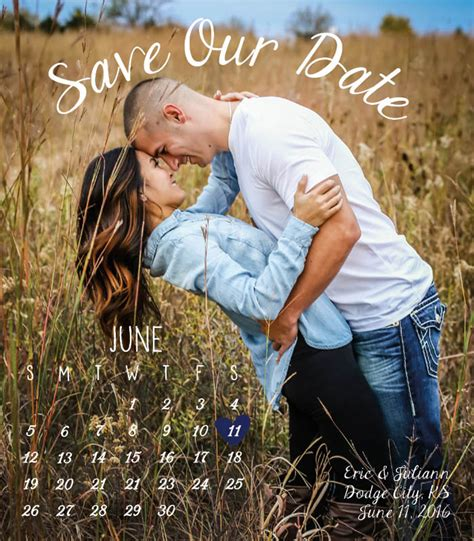 outdoor engagement custom calendar save  dateoutdoor