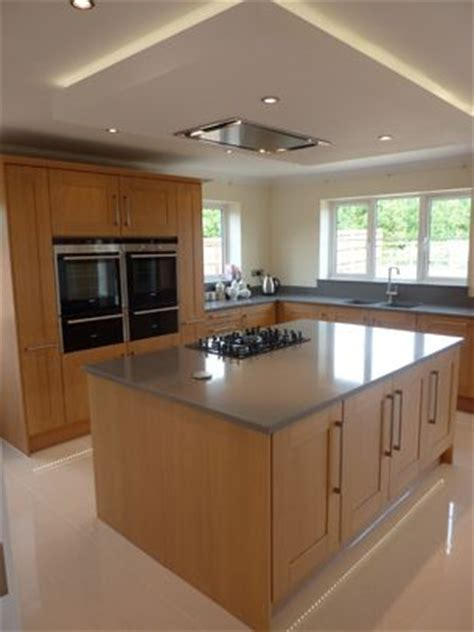 kitchen island extractor fan suspended ceiling with lights and flat extractor