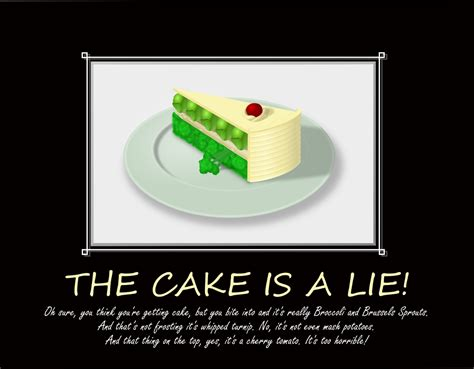 the cake is a lie the cake is a lie by earlyblake on deviantart