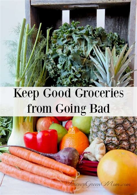 Keep Good Groceries from Going Bad | Forever Green Mom