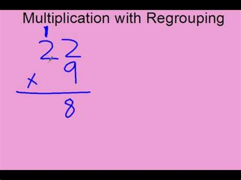 single digit vertical multiplication without regrouping multiplication with regrouping