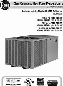 Rheem Package Dedicated Horizontal Heat Pump Specification