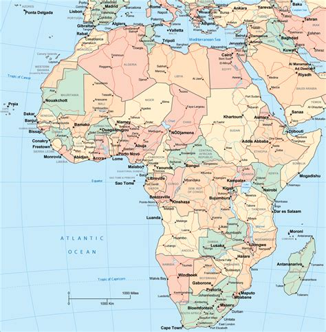 map  africa  african countries