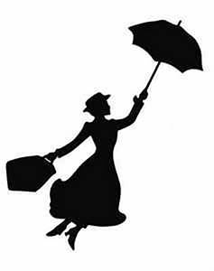 20 x Shapes which look like Mary Poppins flying silhouette ...