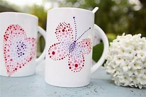 Tassen Bemalen Ideen : tassen bemalen einfache anleitung und 20 inspirierende diy ideen ~ Yasmunasinghe.com Haus und Dekorationen