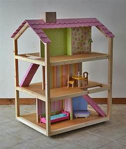 Barbiehaus Aus Holz : puppenhaus holz selber bauen 10 zimmer kinderzimmer ~ Watch28wear.com Haus und Dekorationen