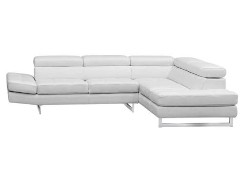 garantie canapé conforama canapé d 39 angle fixe droit 5 places en cuir leman coloris