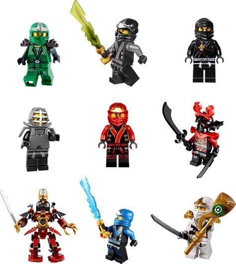 Ninjago Lego 9 Characters Decal Removable Wall Sticker